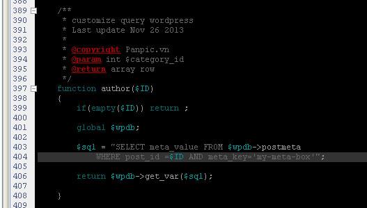 customize query meta box wordpress