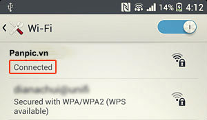 ket noi wifi Sony Xpedia Z1