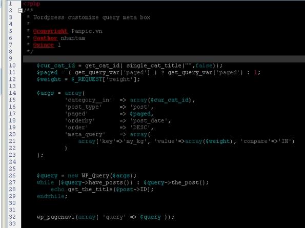 wordpress customize query