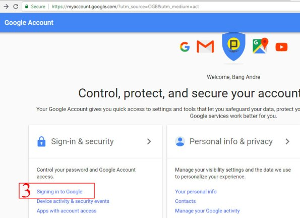 huong dan doi password gmail
